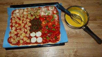 Vegane Pizza selbst gemacht